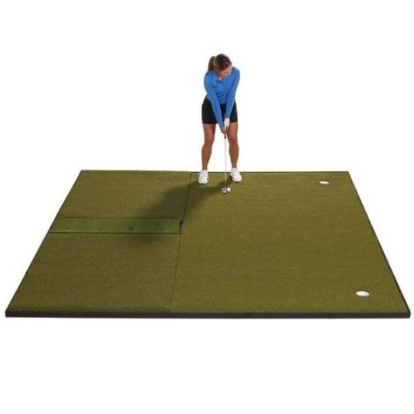 Fiberbuilt combo Golf mat and putting green