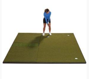 Fiberbuilt Combo Golf Mat & Putting Green - Center Hitting