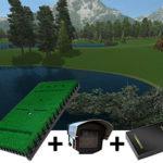 Pro tee base pack 2 golf simulator