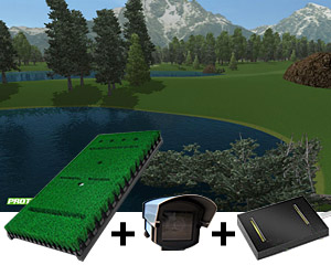 Pro tee base pack 2 golf simulator