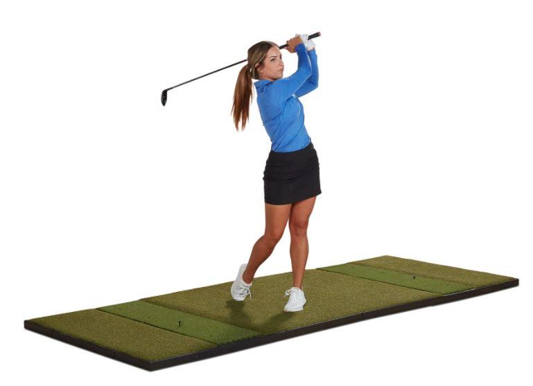 What size mats does Fiberbuilt have? - 10' x 4' Studio Golf Mat - Double Hitting