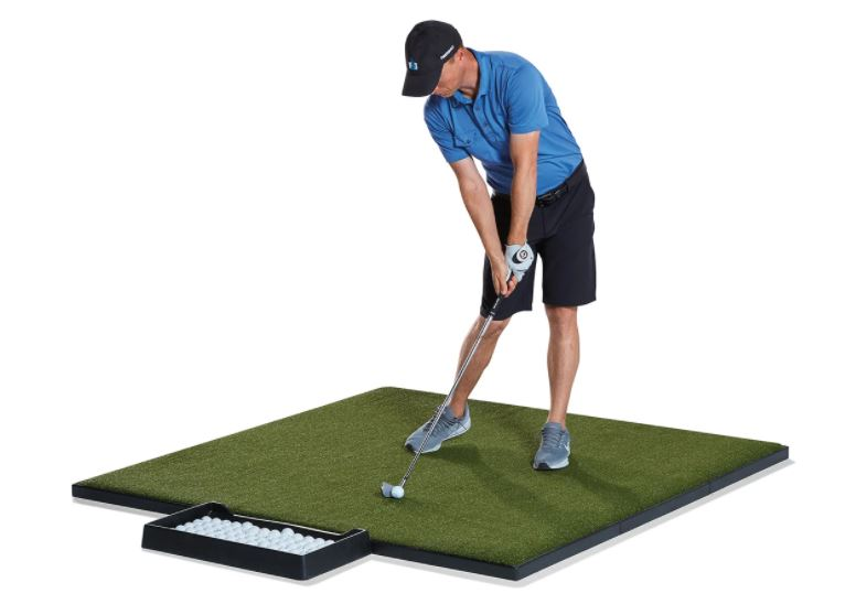 What size mats does Fiberbuilt have? - Square Performance Turf Tee Box