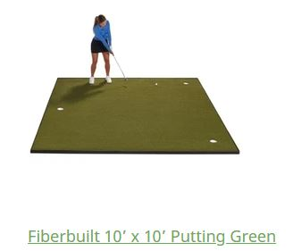 fiberbuild golf hitting mat putting greens review