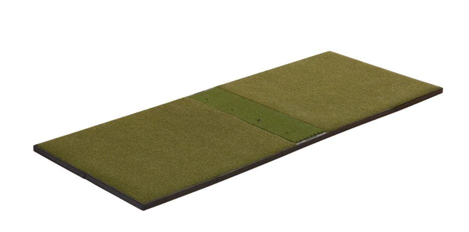 What size mats does Fiberbuilt have? - 9' x 4' Studio Golf Mat - Center-Hitting