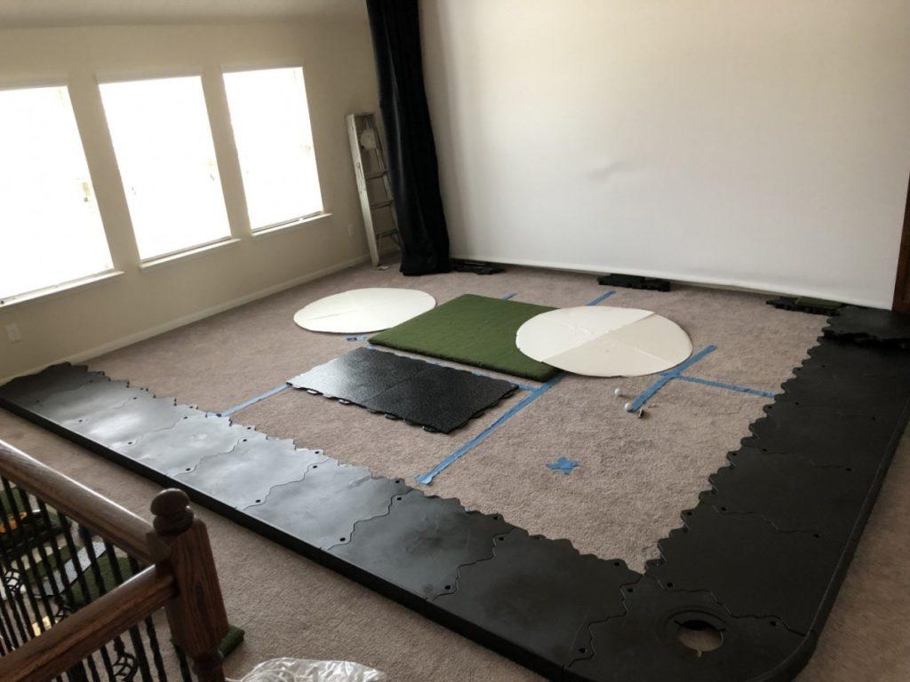 How big of a golf mat do I need