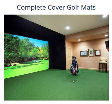 How big of a golf mat do I need