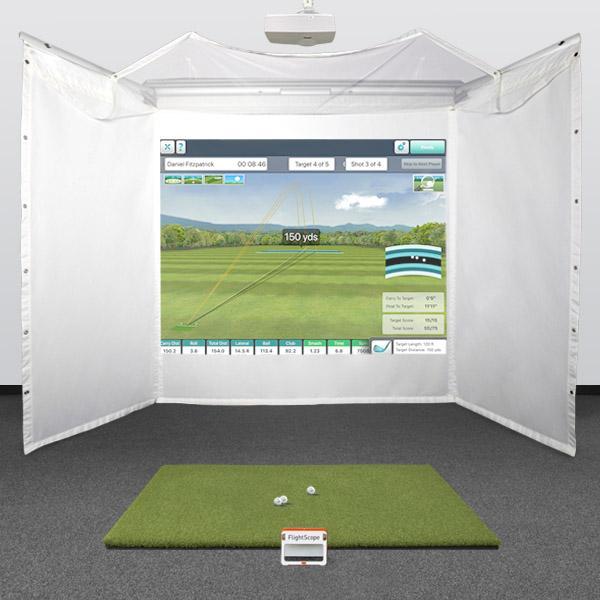 FlightScope Mevo+ (Mevo plus) Retractable Golf Simulator Package