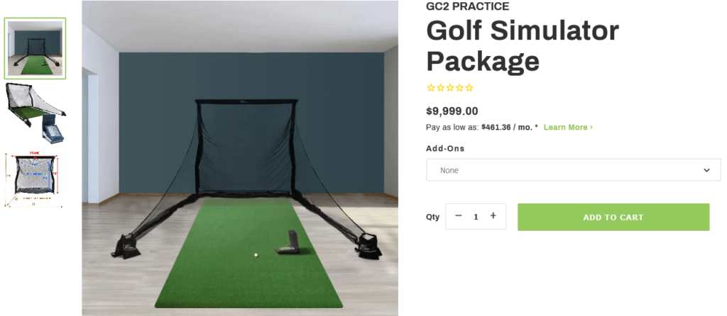 Foresight Sports' GC2 Practice Golf Simulator Package + FSX Software