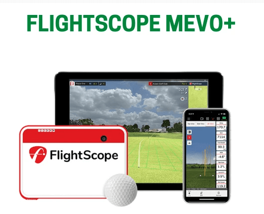 FlightScope Mevo Plus (Mevo+) Practice Golf Simulator Package