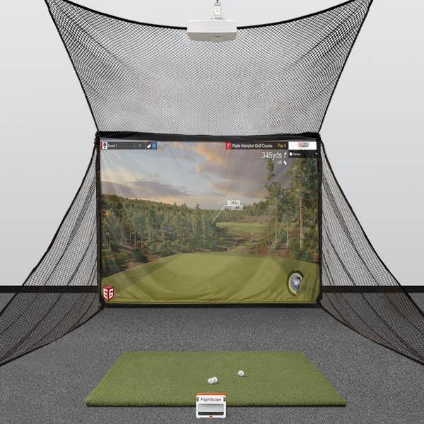 FlightScope Mevo Plus (Mevo+) HomeBay Golf Simulator Studio Package