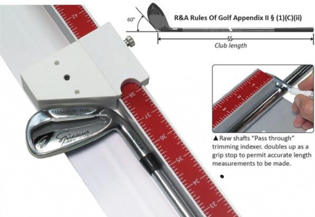 How do I measure the length of a golf club?